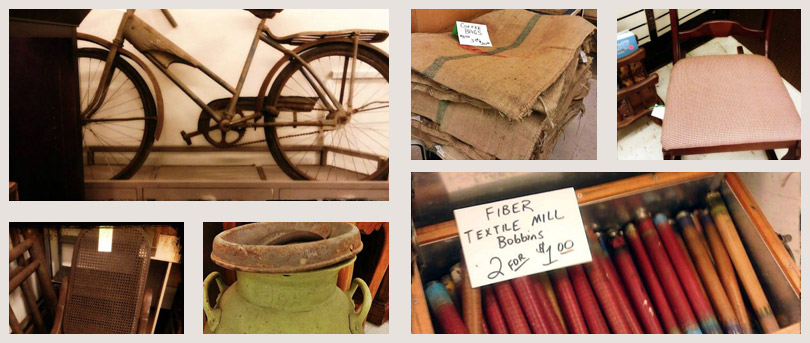 vintage furniture, antique bicycle, antique chair, vintage dishware
